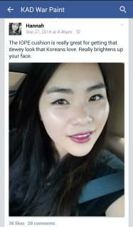 Hannah KAD War Paint FB Group
